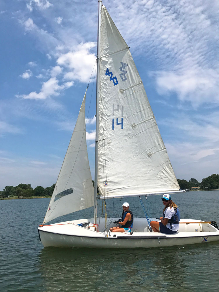 Jocelyn has enjoyed working as a sailing instructor for two summers.