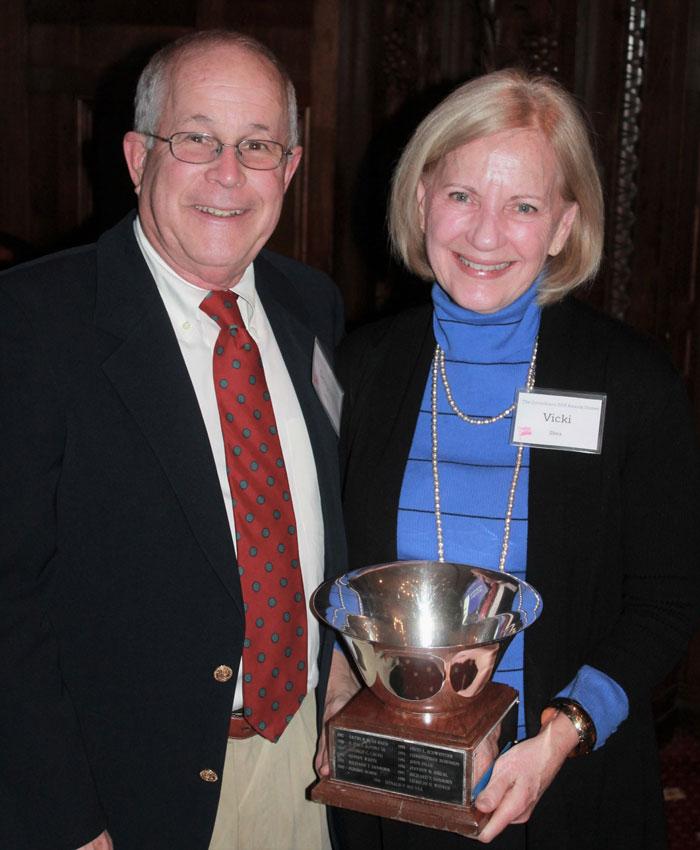 Greg and Vicki Shea accept the Navigator's Award