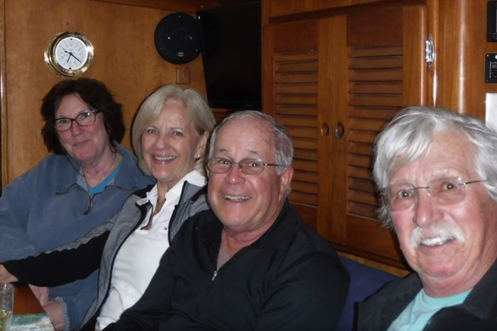 Catherine Stavely, Vicki and Greg Shea, and Dick Tudan