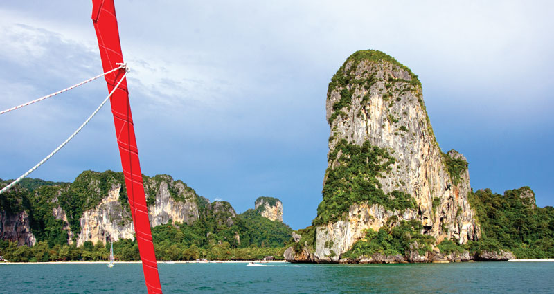 On course to Railay Beach. Photo by Michaela Urban
