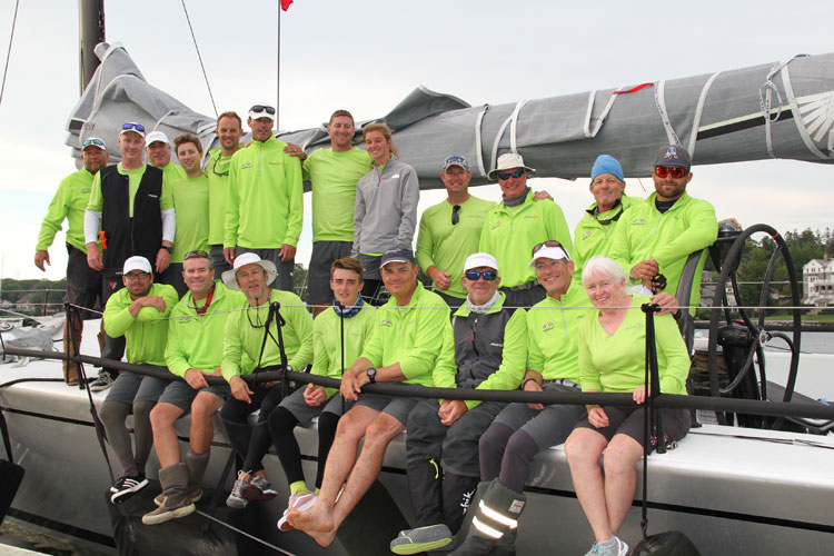 The crew of Prospector in Nova Scotia; they set a new MHOR elapsed time record.