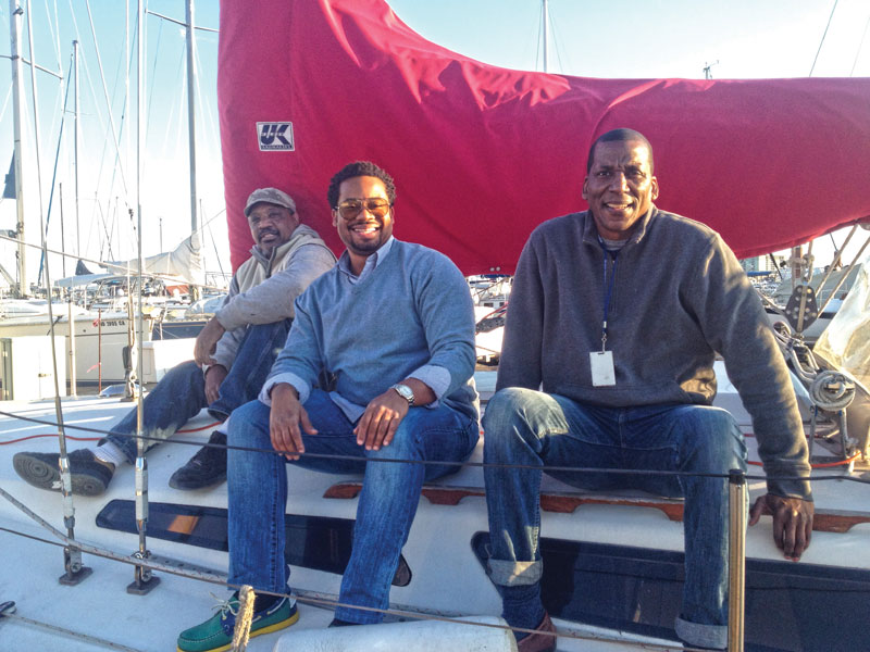 Rodney Mitchell (far right) and crewmates