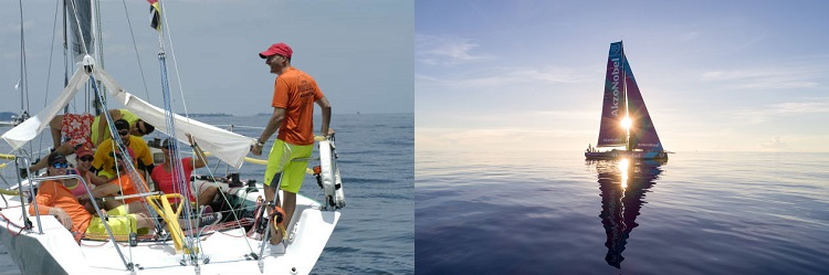 Hard to tell the difference! (Volvo photo by Sam Greenfield/Volvo Ocean Race)