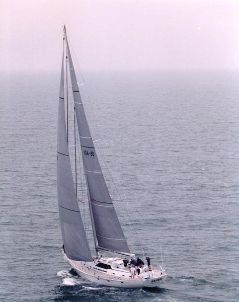 Sorcerer under sail. Courtesy of NSHOF.org