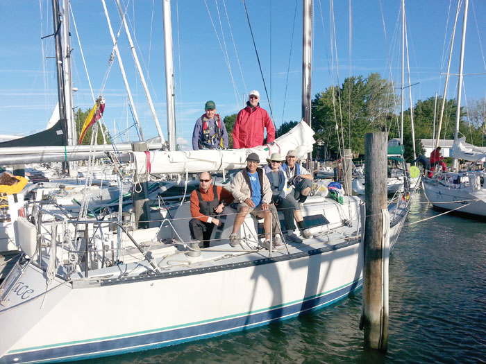 Parklawn Sailing Association members at the Oxford race.