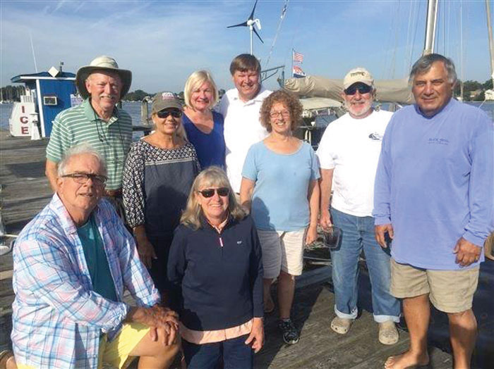 Some of the Chesapeake Bay Tartan Sailing Club Labor Day party-goers.