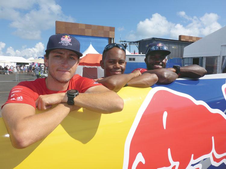 Members of Team BDA. Mackenzie Cooper, Dimitri Stevens, and Mustafa Ingham.