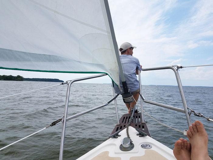 Sailing to Rock Hall