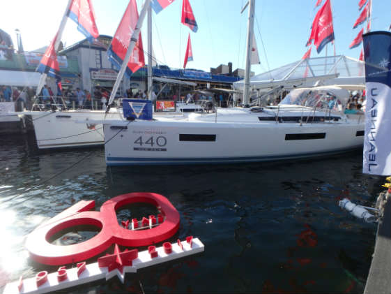 Jeanneau, who is celebrating its 60th anniversary, won the Best in Show for the booth at the U.S. Sailboat Show 2017
