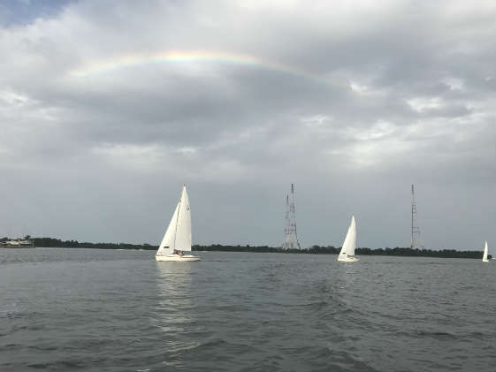 USNA JV Offshore Practice under the rainbow