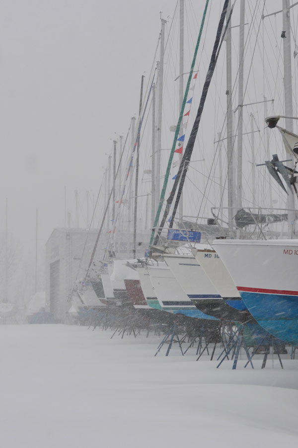 Is your boat on the hard for the winter? Photo by Al Schreitmueller