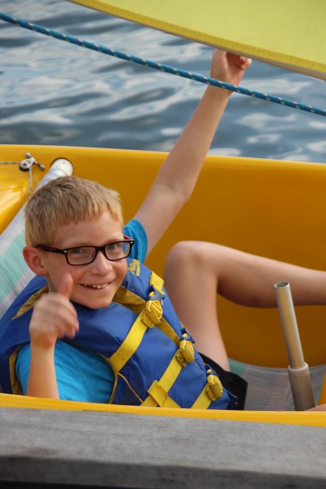 Ya Gotta Tri sail participant Mitchell Culbertson