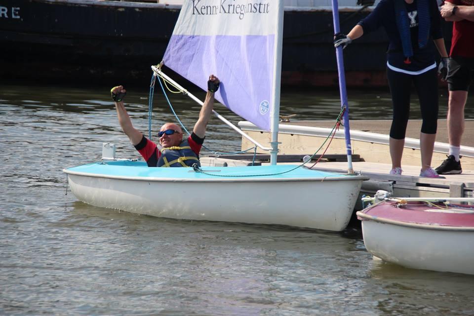 Ya Gotta Tri Sail participant from Kennedy Krieger institute