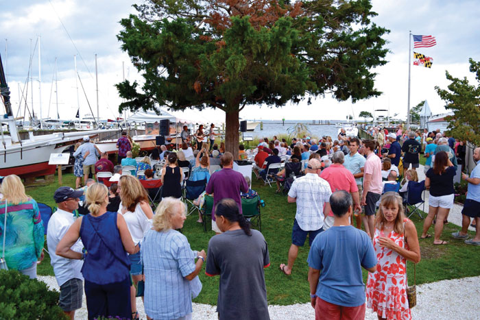Annapolis Maritime Museum and Park hosts a very popular summer concert series. Photo courtesy of AMMP