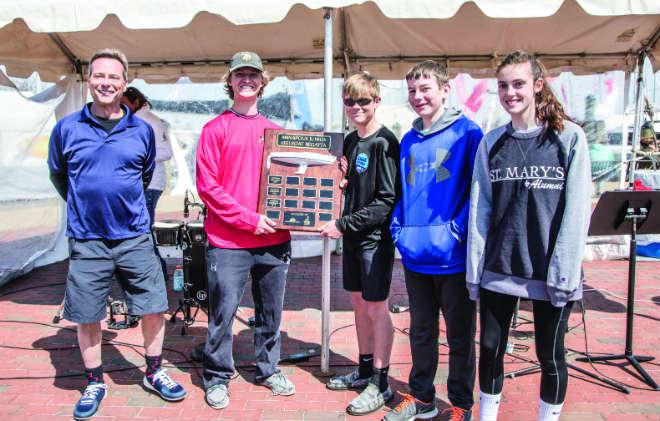 The winning St. Mary's High School team. Photo by Josh Davidson