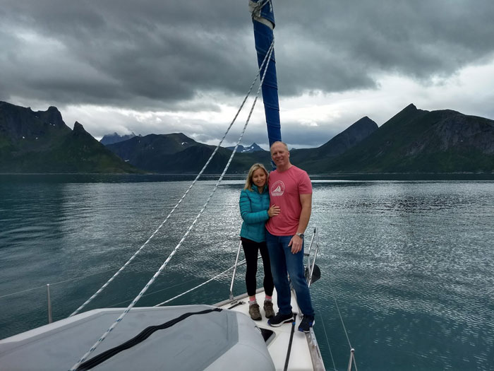 Sailing near the Arctic Circle
