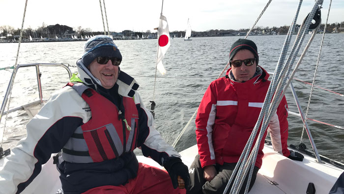 Sailing in winter with a PFD