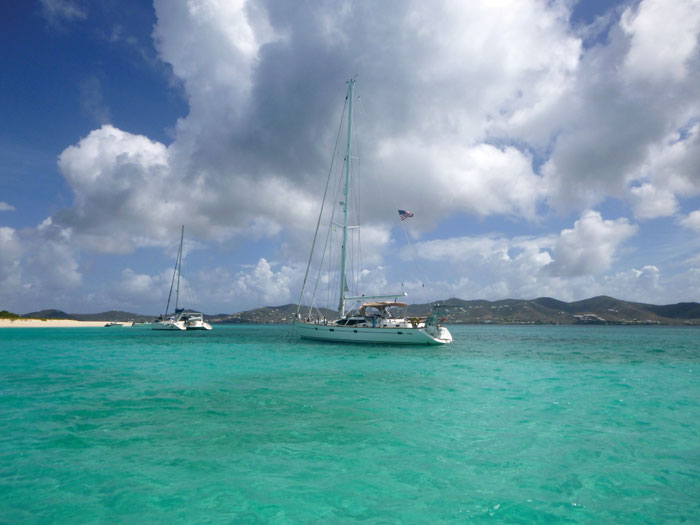Sailing Buck Island