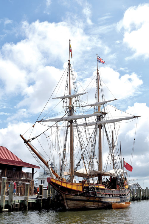 Maryland Dove Docked at Chesapeake Bay Maritime Museum in Saint Michaels