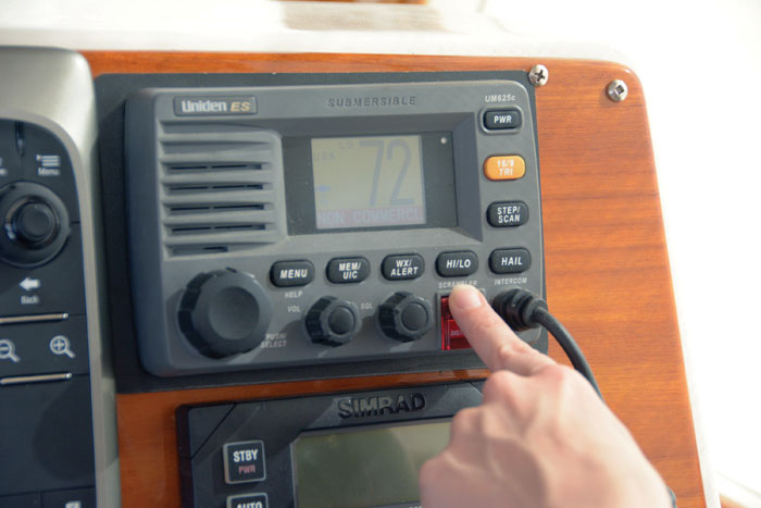 VHF radio with DSC capability is important for offshore sailing