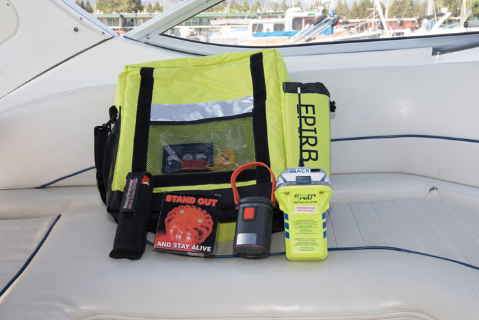 EPIRB safety equipment  for sailors and boater