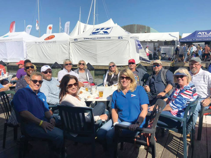 Hunter Sailing Association members at the Annapolis Boat Show