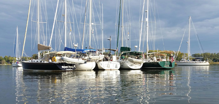 Maryland Yacht Club Fall Cruising Raftup by Kathy Wright
