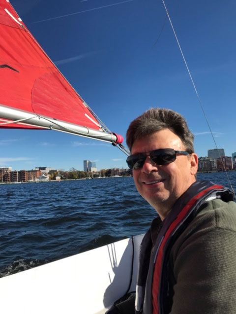 Mark Kahles learned to sail as an adult.