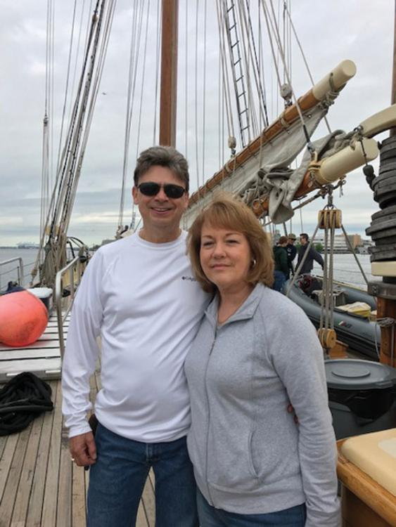 Mark and Ava Kahles volunteered to sail aboard the Schooner Virginia.