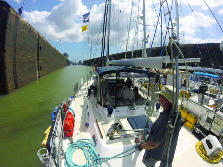Go Pro shot going through the Panama Canal
