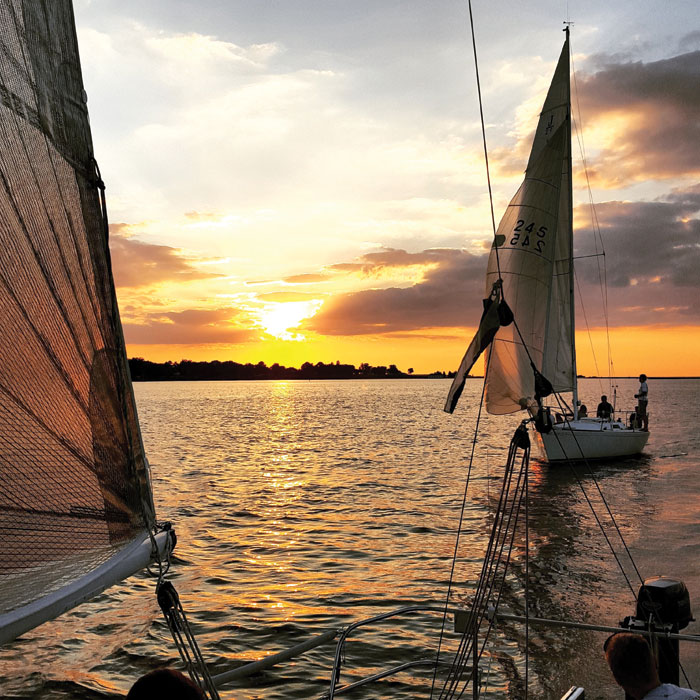 Sailing on the Choptank River