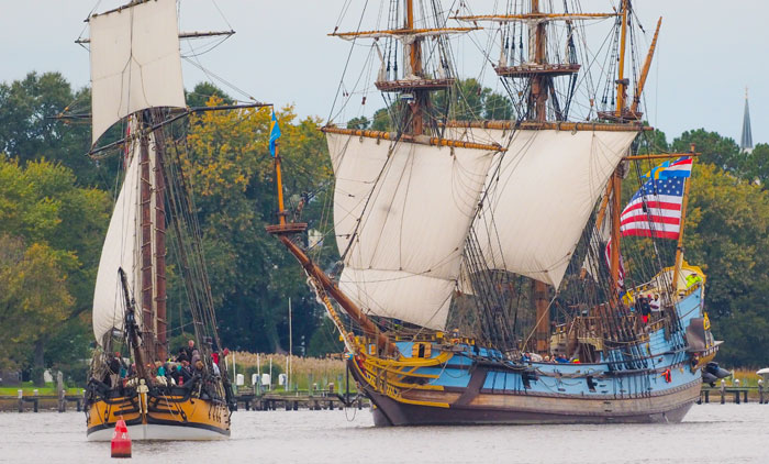 Sailing Tall Ships at Sultana Downrigging Weekend
