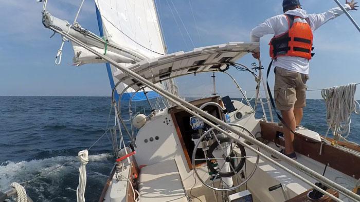 Sailing on the Atlantic Ocean
