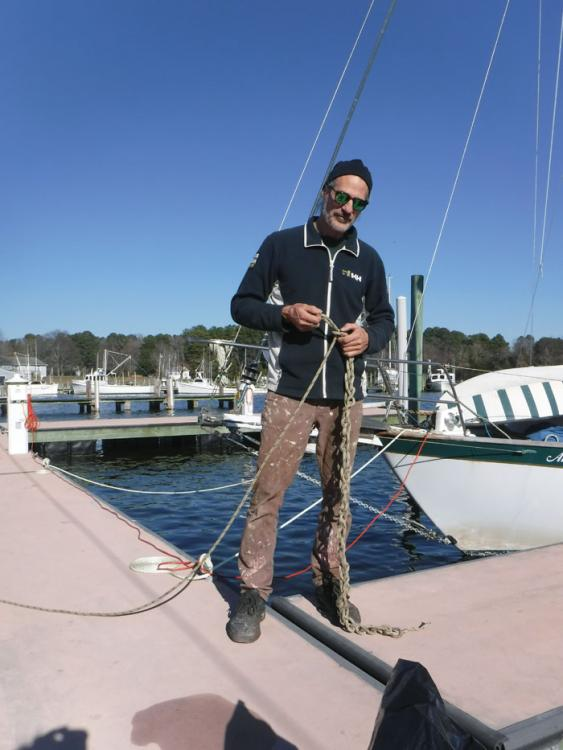author and owner of the sailboat Ave Del Mar
