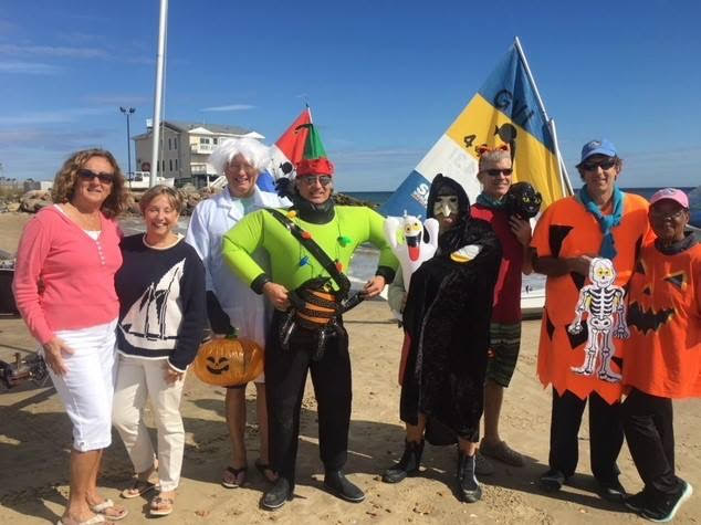 Halloween photo by Tim Etherington during the 2017 Scary Sunfish Race