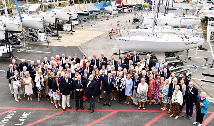 Sailing Club of the Chesapeake members with members of the Royal Lymington Yacht Club