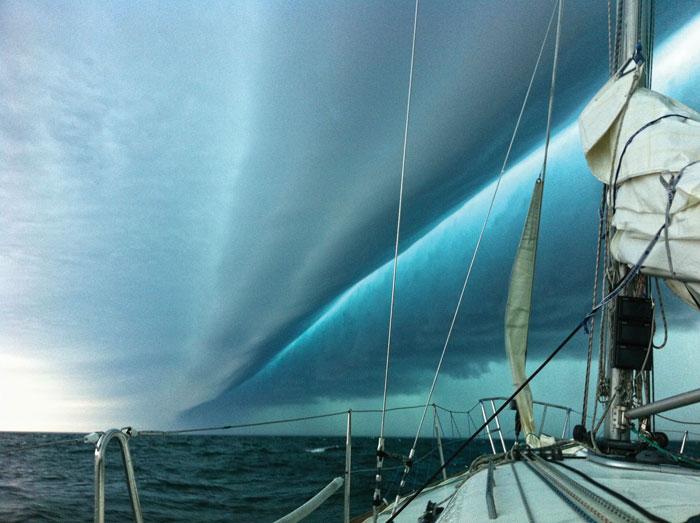 A roll cloud seen while sailing
