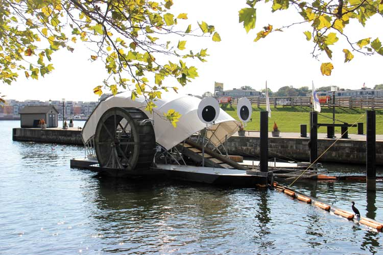 Mr. Trash Wheel cleaning up the Bay in Baltimore Maryland