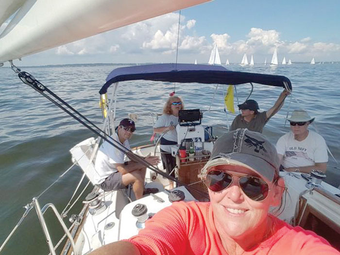 Annapolis Sailors Network Bent Whiskers team racing. Photo courtesy of ASN