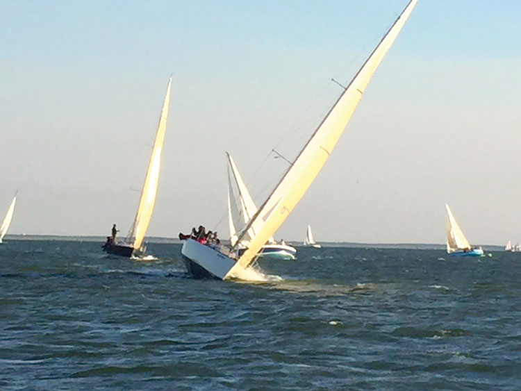 CCV Racing (Cruising Club of Virginia) racers on the Southern Bay