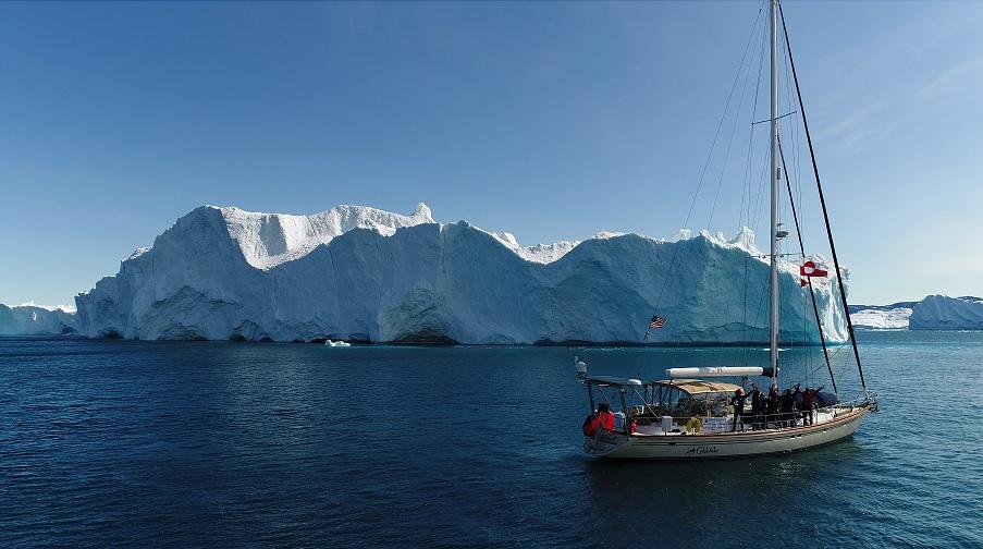 Celebrate and a Greenland glacier.