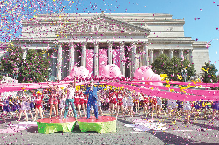 The National Cherry Blossom Festival Parade, April 14, runs for 10 blocks along iconic Constitution Avenue. Photo by Ron Engle, courtesy of National Cherry Blossom Festival