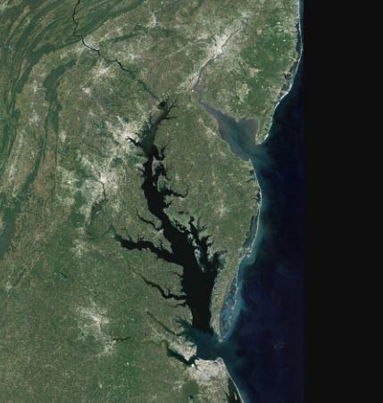 The Chesapeake Bay satellite photo courtesy of NOAA
