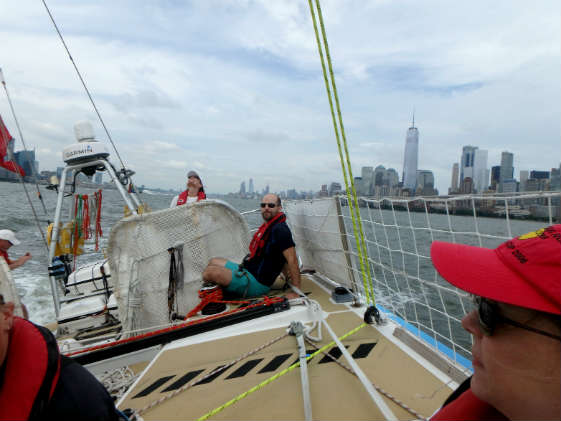 Molly takes the helm of the Clipper 70 Dare To Lead