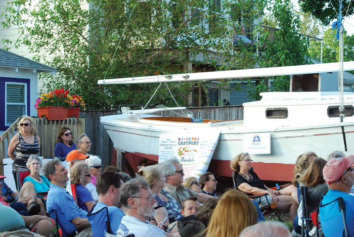 Club Crabtowne members enjoy a concert at Annapolis Maritime Museum.