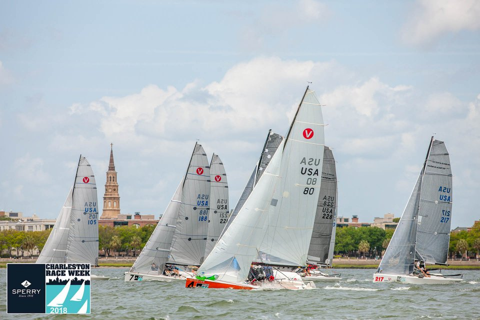 The Ewenson team on the Viper 640 Terminally Pretty posted six bullets in eight races for the win. Photo courtesy of Charleston RW