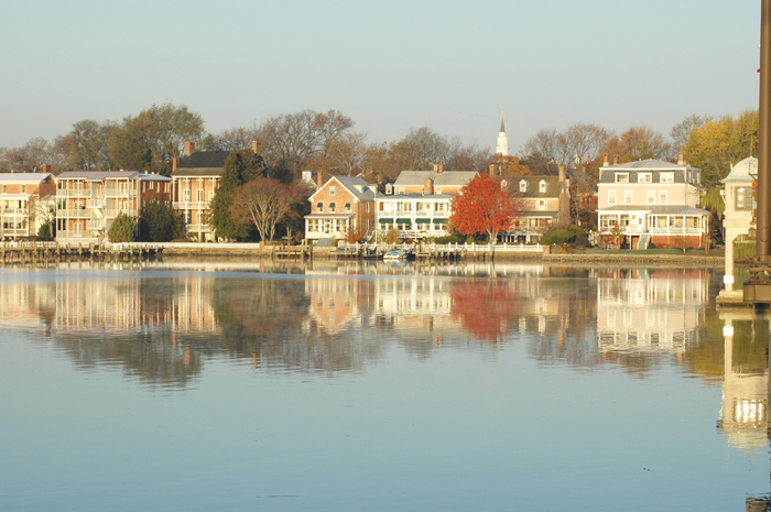 Chestertown, MD, waterfront. Photo by Bernadette Bowman