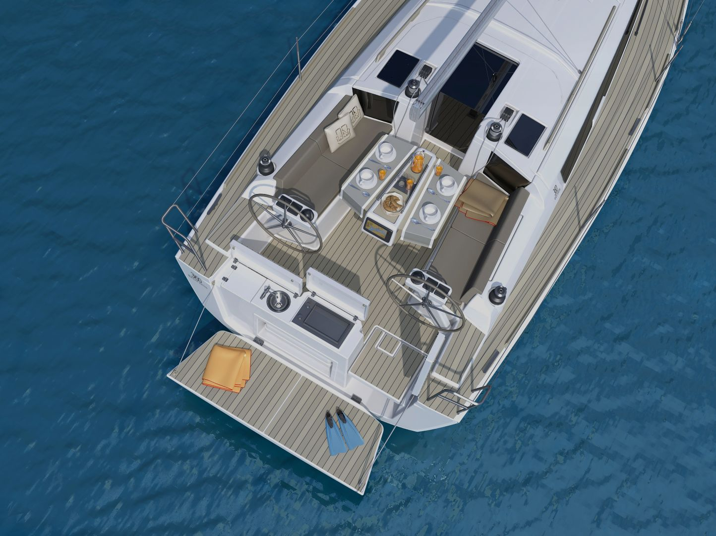 Amazing swim platform and outdoor galley