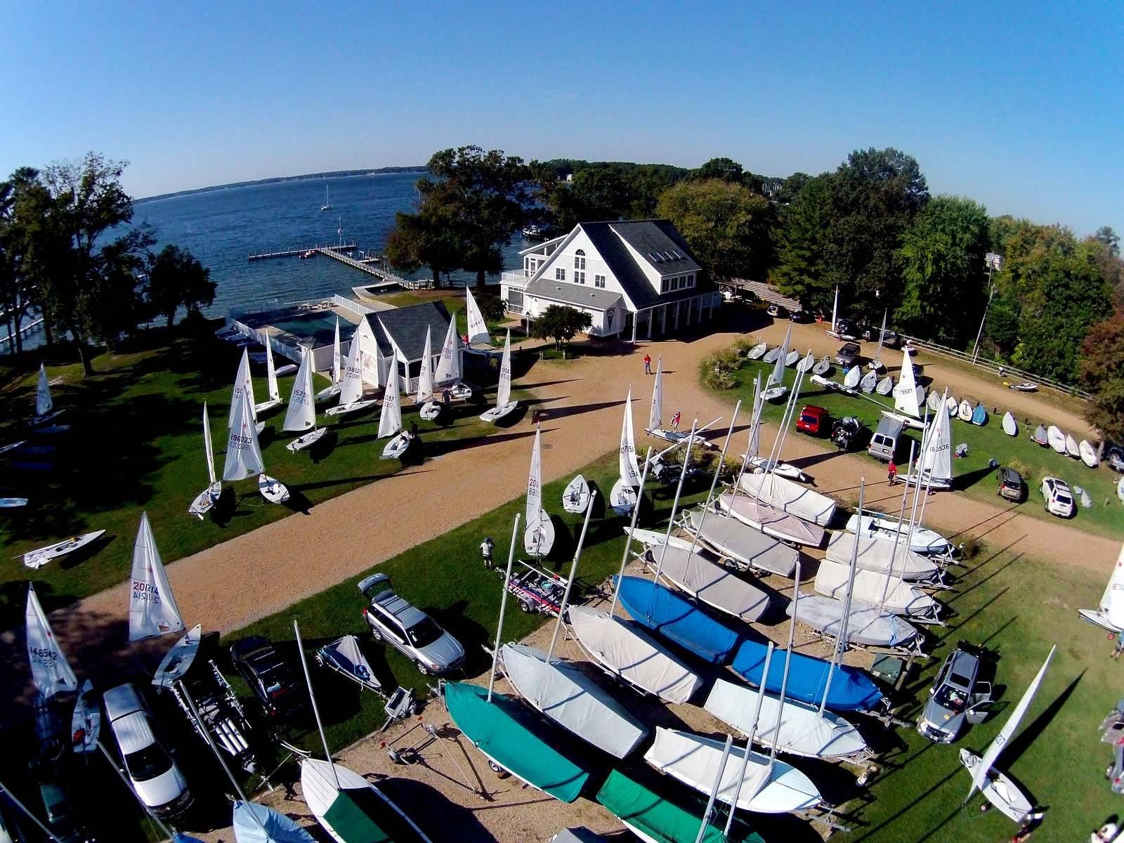 FIshing Bay Yacht Club in Deltaville, VA.