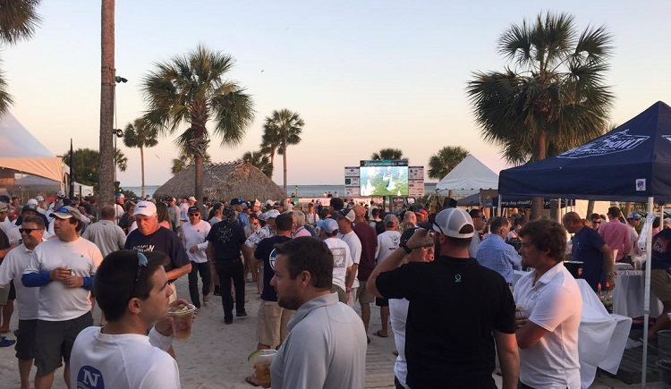 The party at Charleston Race Week -- the beach, friends, and adult beverages. It's hard to beat this setting.